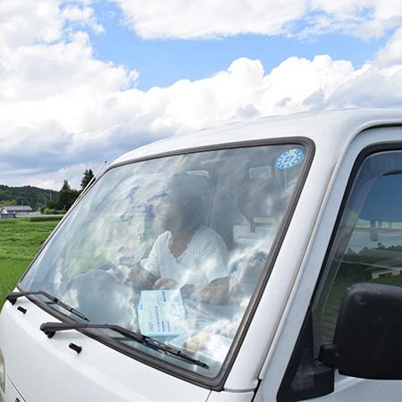 軽トラ窓ガラス
